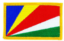 FLAG PATCH PATCHES SEYCHELLES  COUNTRY  IRON ON EMBROIDERED SMALL