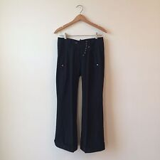 "Marithe Francois Girbaud Black Cropped Flare Dress Pants 30""x28"" Sz 2/4 PERFECT"