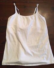 La Leche League International Long Nursing Cami White style #4221 Super Comfy!!!