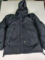 Polo Ralph Lauren Mens Large Full Zip Hooded Black Down Nylon Puffer Jacket