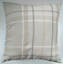 "Natural Soft Check Cushion Cover 16"" Matches Next Curtains"