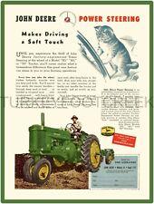 """JOHN DEERE MODEL 60 POWER STEERING TRACTOR AD 9/"""" x 12/"""" ALUMINUM Sign"""