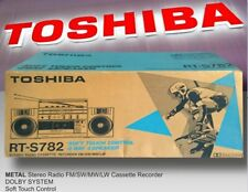 NEW  TOSHIBA RT-782S STEREO METAL CASSETTE GHETTOBLASTER BOOMBOX RADIO JAPAN