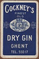 Playing Cards 1 Single Card Old COCKNEYS DRY GIN GHENT Advertising Art Design
