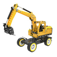 332pcs DIY Engineering Truck Excavator 3D Metal Puzzle Assemble Kits Car Toy