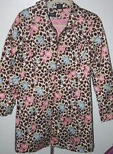 Nicole By Nicole Miller Leopard & Flower Jacket Coat Blazer SZ  8    m