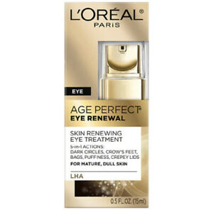 L'Oreal Age Perfect Eye Renewal Skin Renewal Eye Treatment 5 In 1 Action-0.5oz