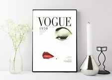 Vogue magazine cover 1950 classic painting print poster