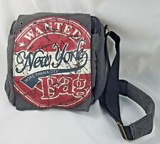 Robin Ruth Purse Wanted Bag New York Gray Canvas Messenger Shoulder Bag