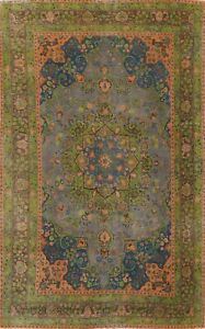 Antique Overdyed Distressed Floral Traditional Oriental Area Rug Handmade 6x10