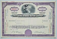 Alte US Aktie - THE ELECTRIC STORAGE BATTERY COMPANY - Historisches Wertpapier