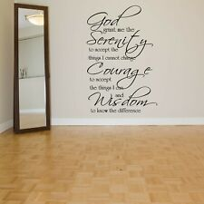 Wall Sticker Quote Phrase God Serenity Courage Mural Decal Vinyl Art Decor ZX628