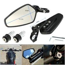 "Motorcycle 7/8"" Handle Bar End Rearview Side Mirrors CNC Universal Foldable J3J5"