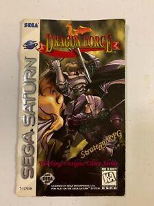 Sega Saturn Dragon Force Manual
