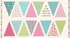 Makower Fabric - Tea Party Bunting Panel - 100% Cotton