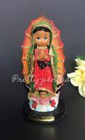 "5"" Baby Face Virgin Mary-Virgen Maria-Lady Of Guadalupe Bebe Figurine Catholic"