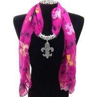 Western Cowgirl Scarf Rhinestone Fleur De Lis Saints Jewelry Purple Multicolor 1