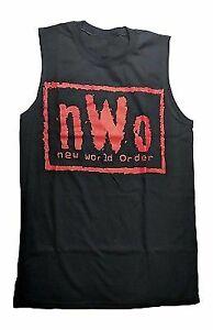 nWo New World Order Red Logo Muscle Sleeveless T-shirt New