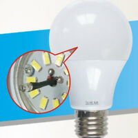 E27 7W 6000K Auto On/off Dusk to Dawn Night Light Sensor LED Bulb Lamp new
