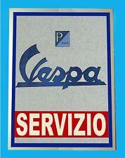 VESPA SERVIZIO -   TARGA IN METALLO -  RIPROD. D' EPOCA