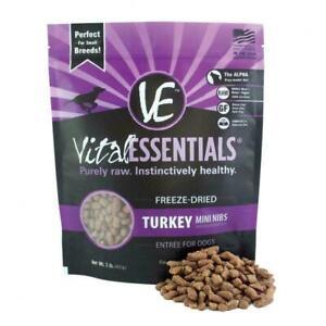 Vital Essentials Freeze Dried Grain Free Turkey Mini Nibs (1lb) FREE SHIPPING