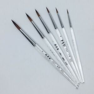 XDT#900 Round Tip Highlight Liner Artist Paint Art Brush 6pc Acrylic Watercolor