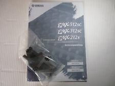 YAMAHA Powermischer EMX 212S,312SC,512SC Bedienungsanl. in deu. m. Aufstellfüßen