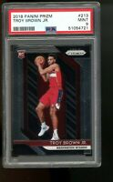 2018 Panini Prizm #213 Troy Brown Jr. Wizards RC Rookie Card PSA 9 MINT