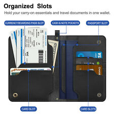 Fintie Passport Travel Leather Travel Wallet Credit Card Holders with Lanyard