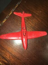 Vintage Toy Red Plasic Airplane 1950's. Approximately 3� Long