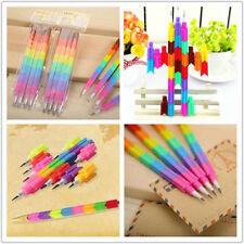 New 2X Creative Kids Stacker Swap Building Block Colorful Pencils Children Gift