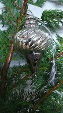 Christbaumkugel Weihnachtskugel Kugel  Weihnachten Bauernsilber  Rosette Silber