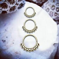 DOTTY Thin Nose Ring Gold Septum Ring Ball Cartilage Hoop Conch Piercing Tragus