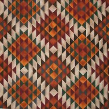 Southwest Burnt Orange triangle Print Fabric Cotton by Fabri-Quilt - By The Yard