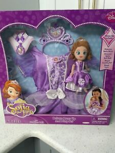 Disney Princess Sofia The First 6 Pc Deluxe Dress Up Costume Play Set Size 4-6