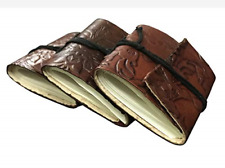 Pack Of 3 Leather small Journal Writing Notebook Bound Daily Notepad Minicture