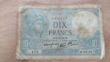 Billet 10 francs type Minerve 1941