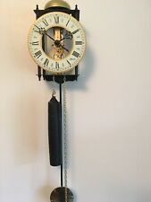 Hermle Brass And Iron Selelton Clock With Bell Strike.