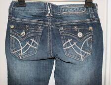NEW Hydrolic Tag Blue -Sz 3/4 Destructed- Bailey Micro Boot Jeans -Awesome Jeans