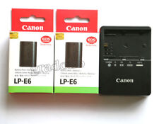 Two  LP-E6 battery and LC-E6E charger for Canon EOS 5D 6D 7D 60D 60Da Mark II