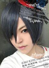 Free CAP+ Black Butler Ciel Kuroshitsuji Phantomhive Anime Cosplay Wig +Track NO
