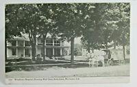 1909 ROCHESTER INDIANA Postcard of WOODLAWN HOSPITAL & RED Cross Ambulance Wagon