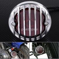 Argent Round Moto Feu arrière Tail light Pour Harley Bobber Chopper Honda Yamaha