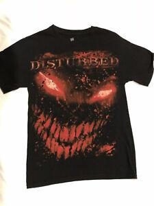 Disturbed t shirt size S small hard rock rob zombie tool 2000's