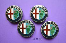 X4 Alfa Romeo Centre de roue Caches Moyeux 50 mm l' ancien logo Mito 145 146 147