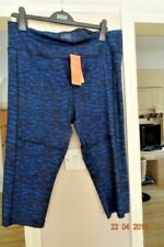 MARKS & SPENCER DARK BLUE MIX CROPPED FITNESS  PANTS SIZE 18 RRP £35 BNWT
