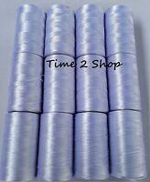 12 x Large Art. Silk Pure Box of White Rayon Machine Embroidery Thread Spools