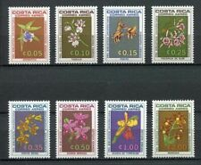 29672 COSTA RICA 1967 MNH Nuovi Flowers Fiori 8v Scott C443 to C449 orchids