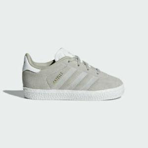 Adidas Originals Gazelle Kleinkinder Größe 7 beige RRP £ 40 BRANDNEU da9263 letztes Paar