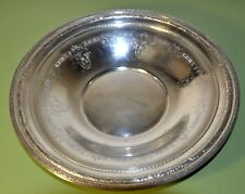 """12"""" SOLID STERLING SILVER ROUND SERVING BOWL"""